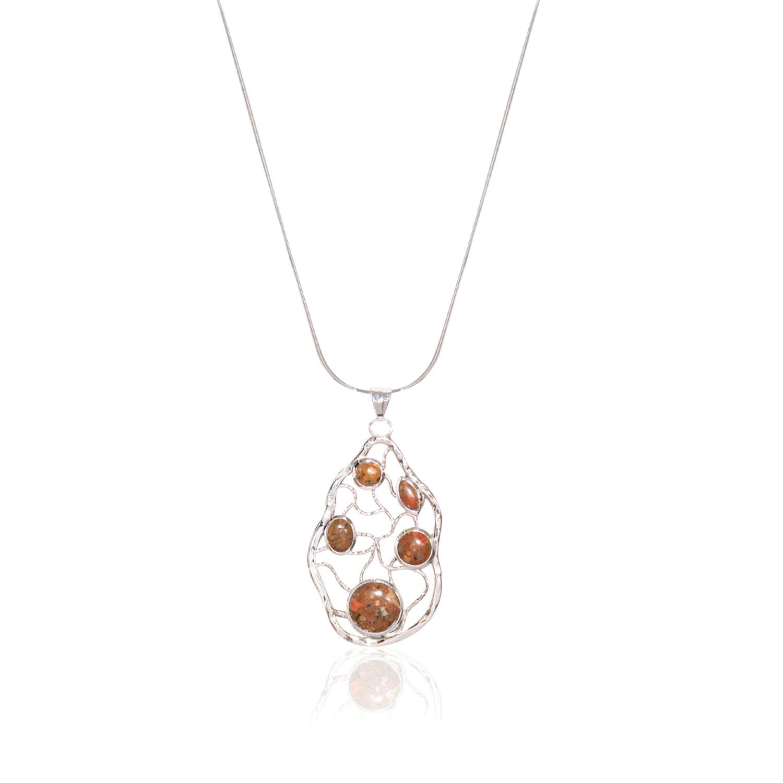 Granite Stone Maze Necklace