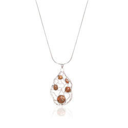 Jersey Granite Stone Maze Necklace