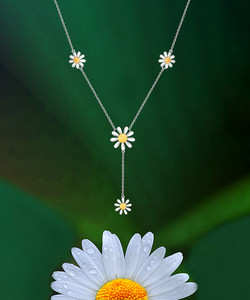 Double Sided Daisy Necklace
