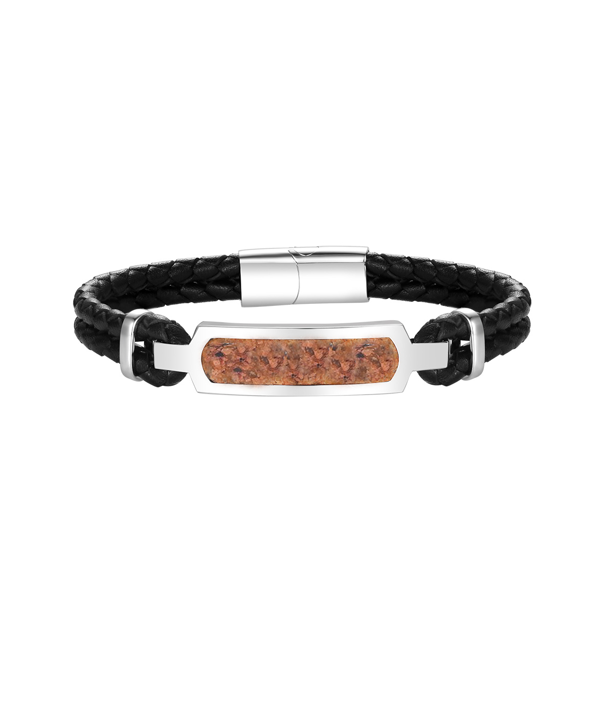 Mens Granite Leather Bracelet