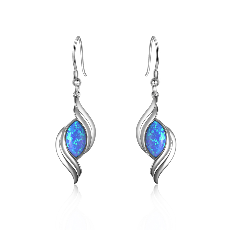 Double Wave Opal Earrings