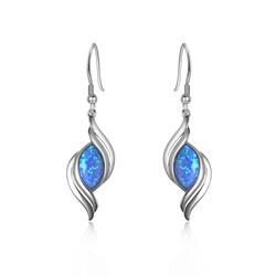 Opal Wave Earrings