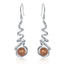 Granite Spiral Earrings