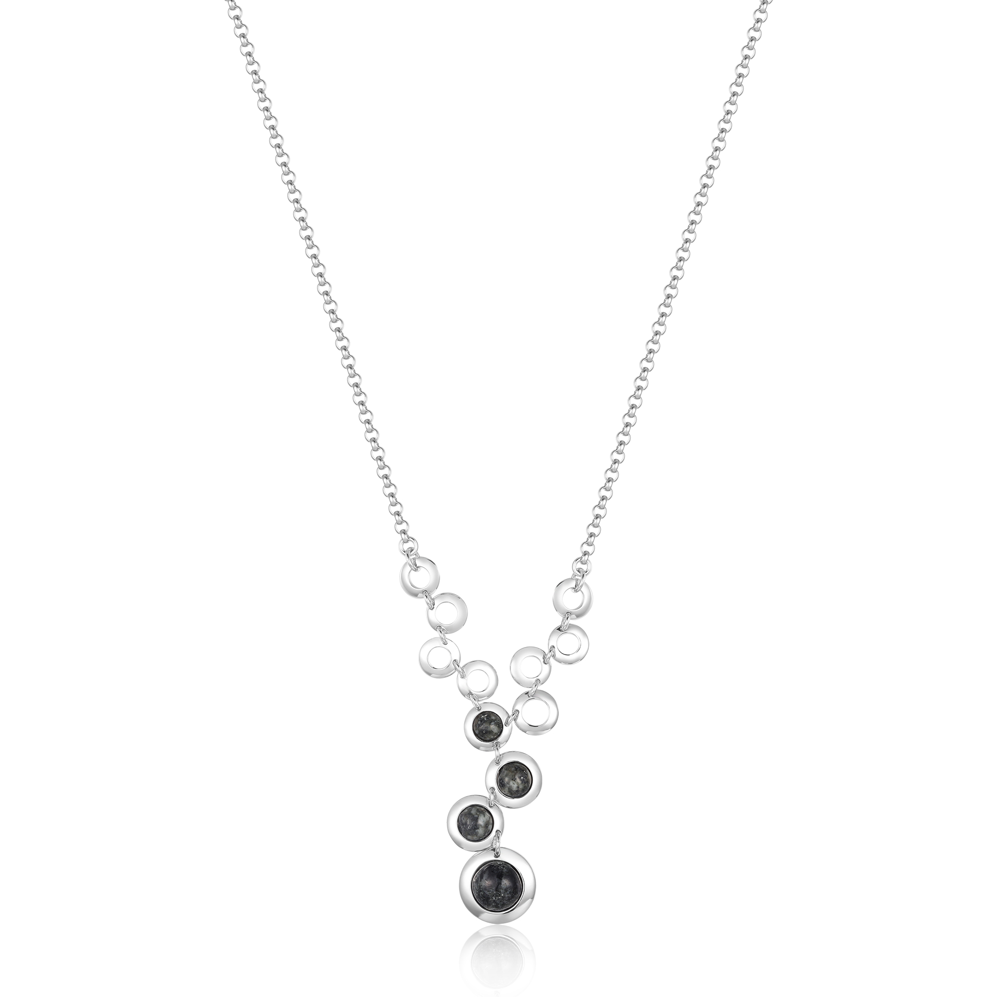 Jersey Granite Full Multi-Circle Necklace