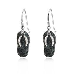 Jersey Granite Flip Flop Earrings