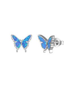Opal Butterfly Stud Earrings