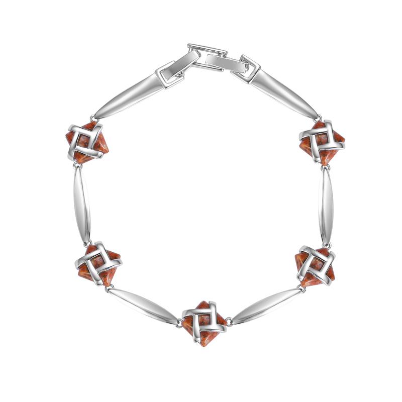 Jersey Granite Silver Dash Bracelet