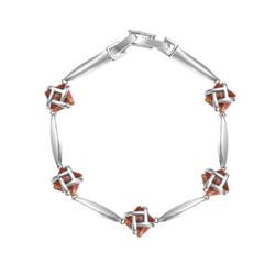 Silver Dash Granite Bracelet