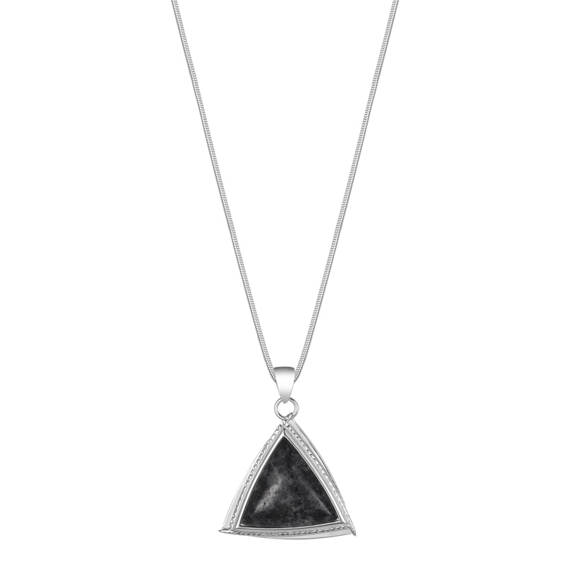 Jersey Granite Trillion Necklace