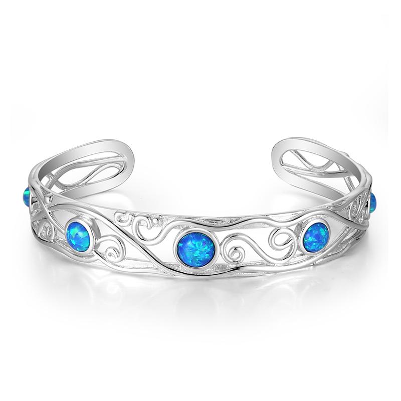 Five Stone Opal Bangle