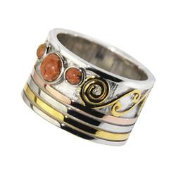 3 Stone Swirl Ring