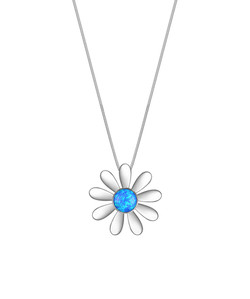 Opal Daisy Necklace