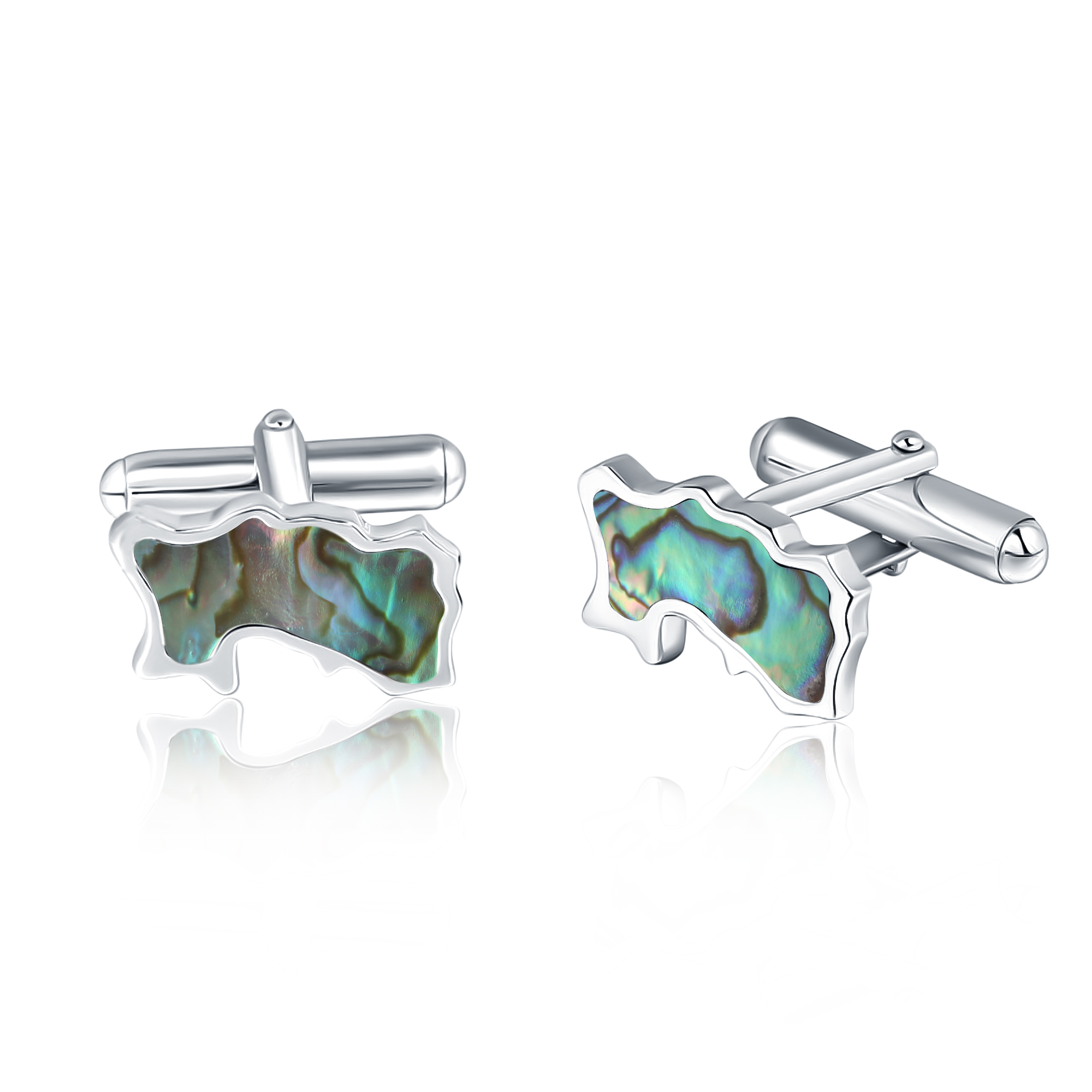Jersey Map Abalone Cufflinks
