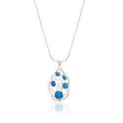 Opal Stone Maze Necklace