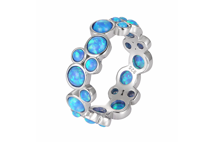 Multi Circles Opal Ring