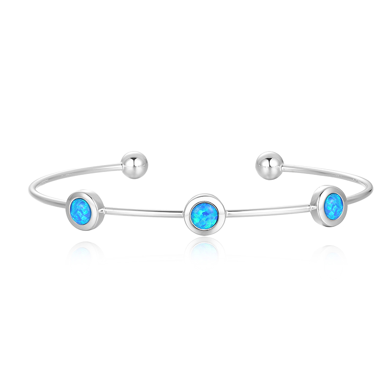Three Stone Opal Bangle