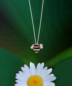 Steel Bee Necklace