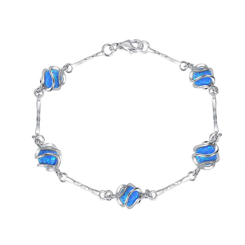 Caged Ball Opal Bracelet
