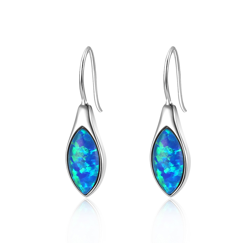 Pointed Opal Earrings