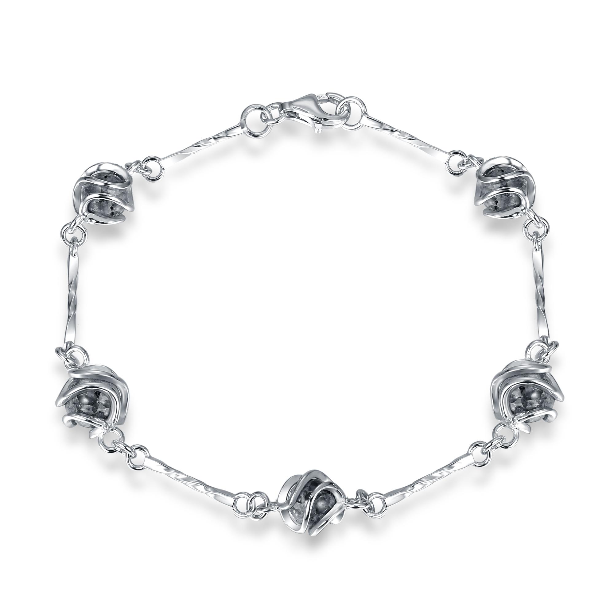 Jersey Granite Cage Ball Bracelet