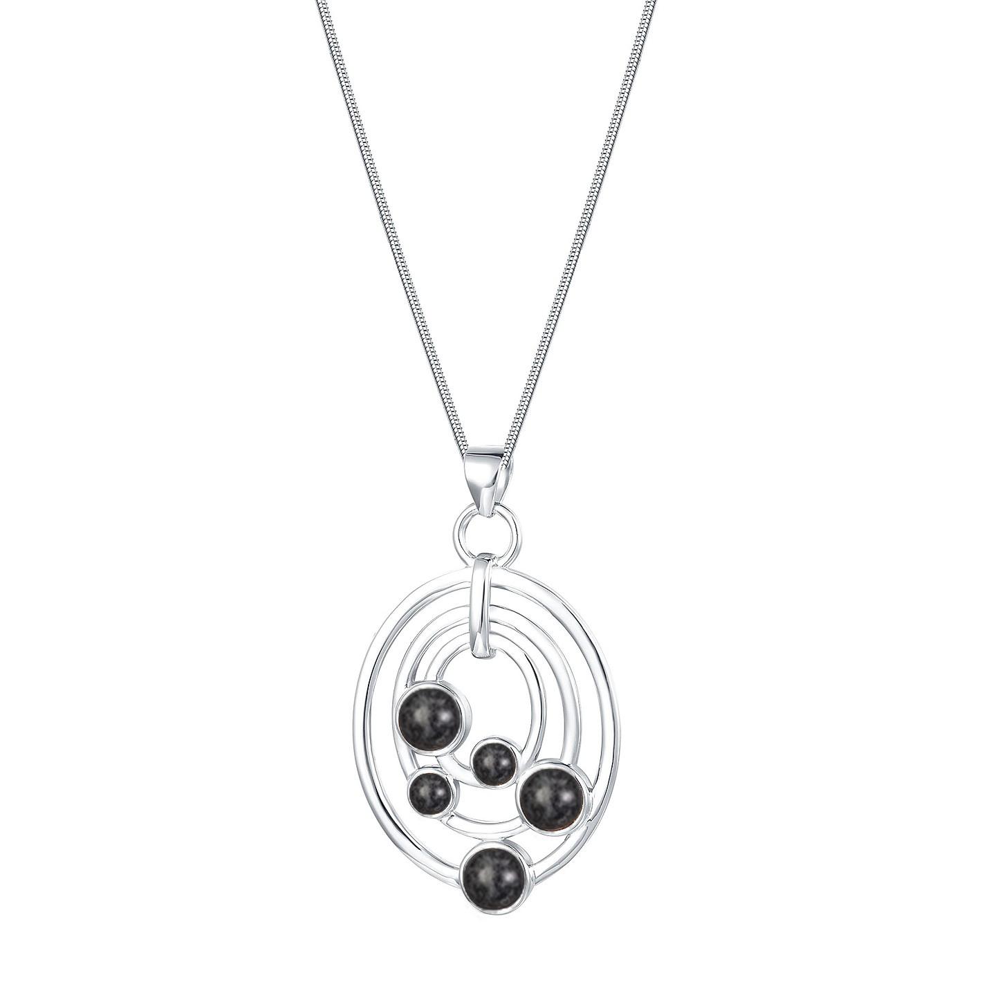 Multi Oval Granite Necklace