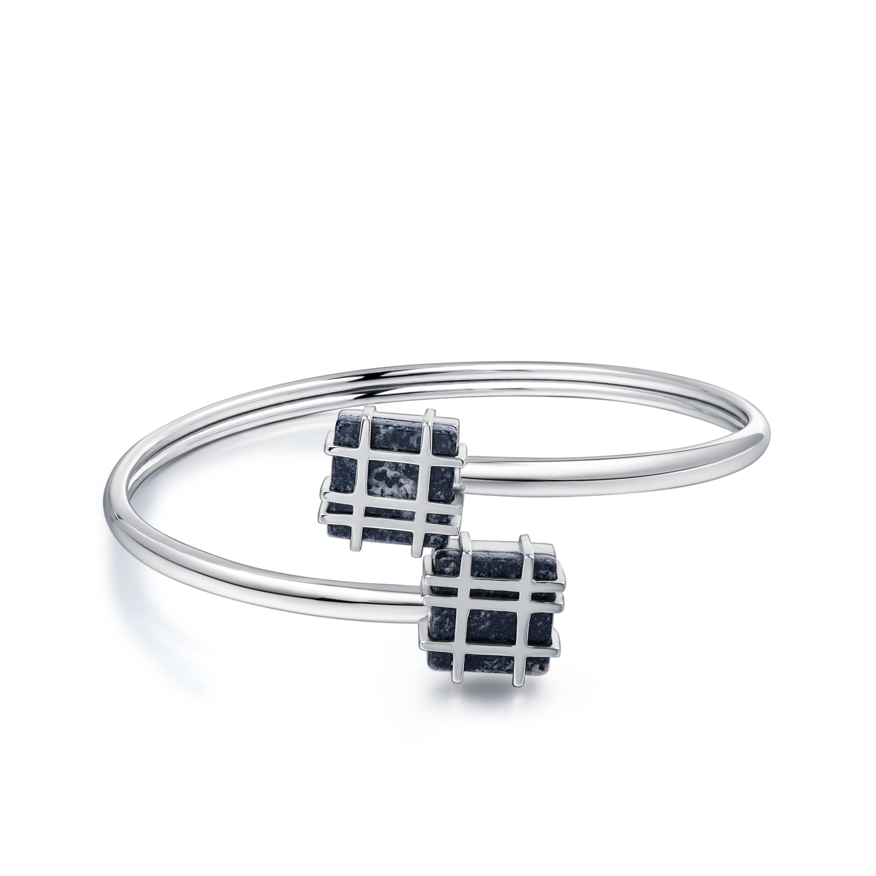 Jersey Granite Square Lines Bangle