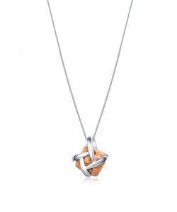 Jersey Granite Silver Dash Necklace