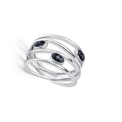 Silver Lines Granite Ring