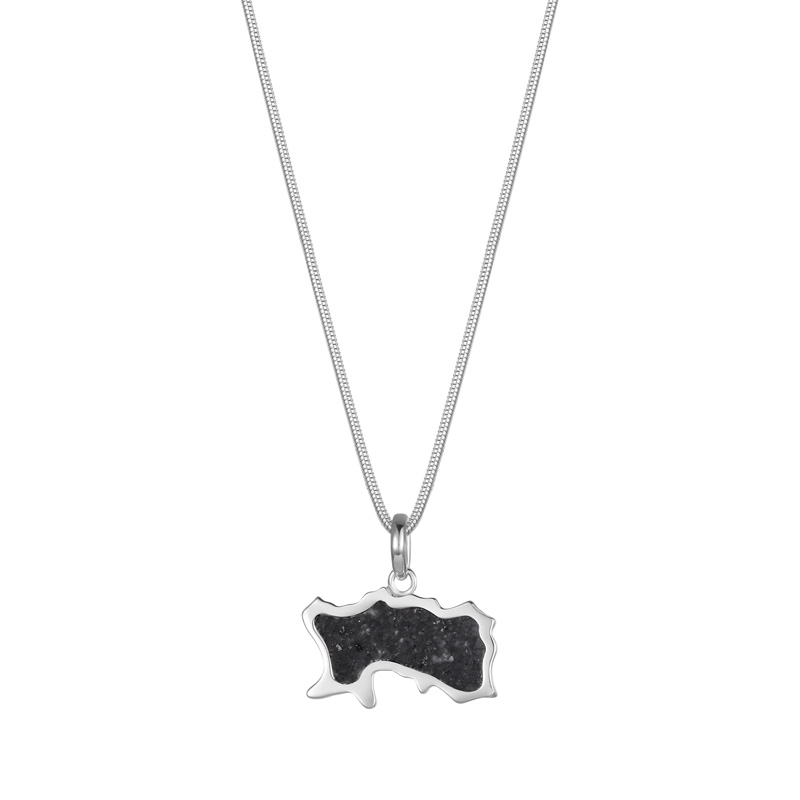 Jersey Granite Map Necklace