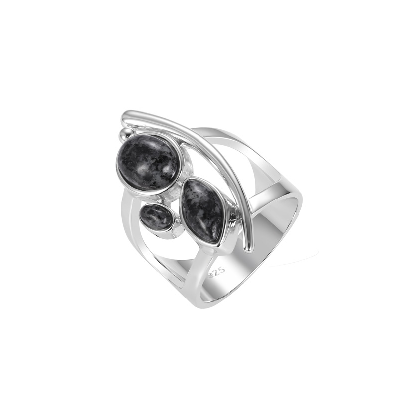 Multi Shape Granite Stone Ring