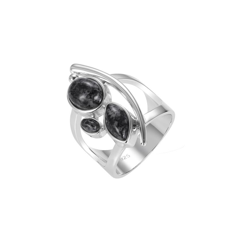 Multi Shape Granite Stone Ring
