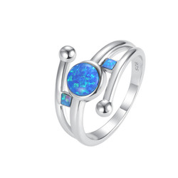 Round with Square Opal Ring