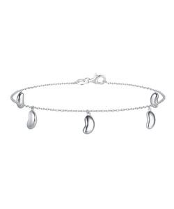 Silver Bean Ankle Chain