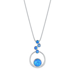 Floating Circles Opal Necklace