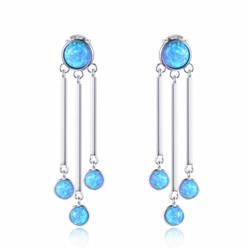 Triple Drop Opal Earrings