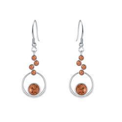 Multi Circle Granite Earrings