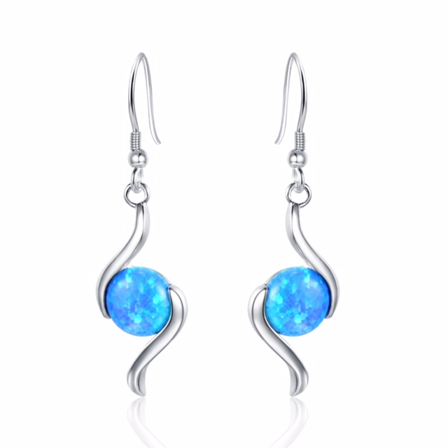 Swirl Opal Earrings