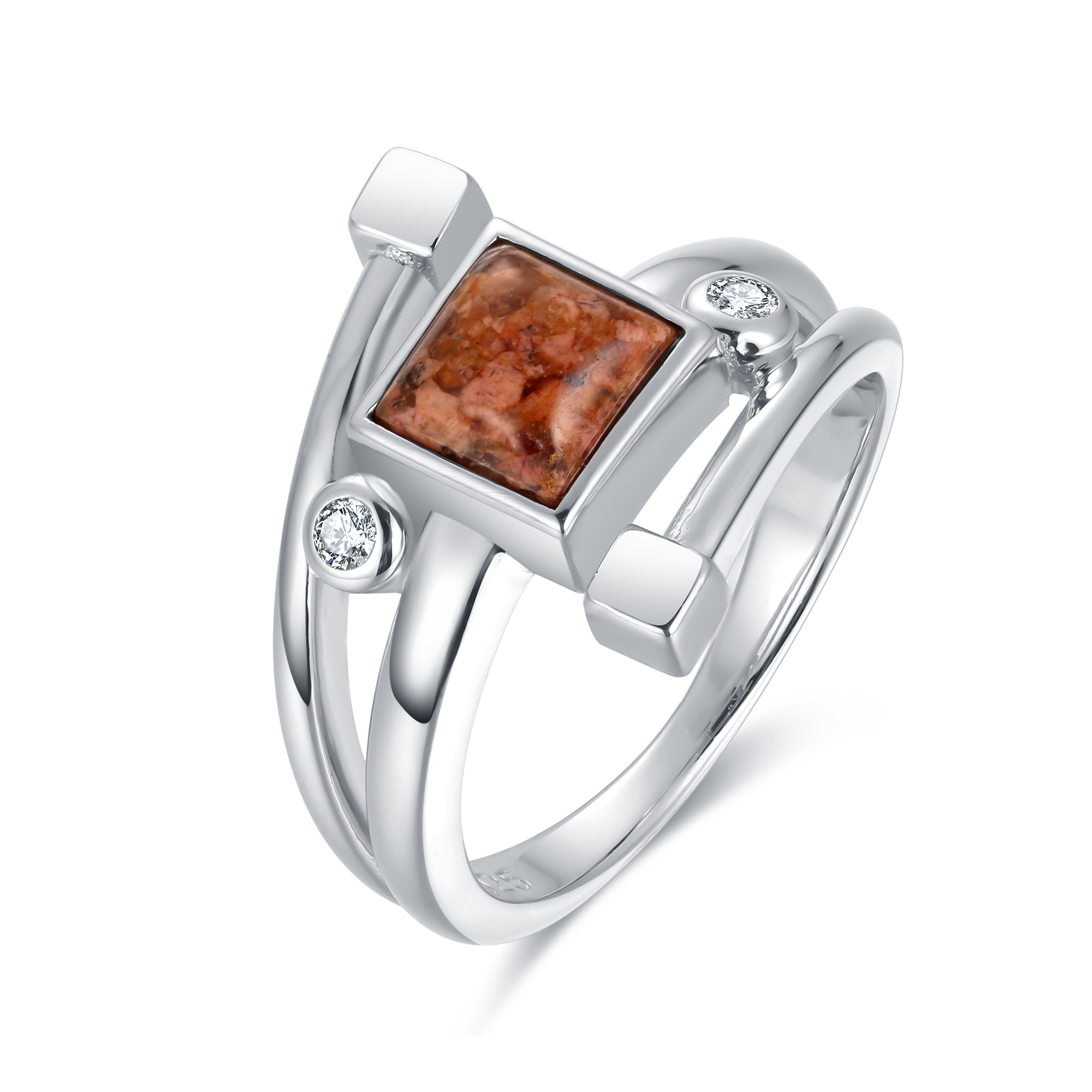 Square Granite Ring