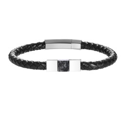 Jersey Granite and Leather Bracelet