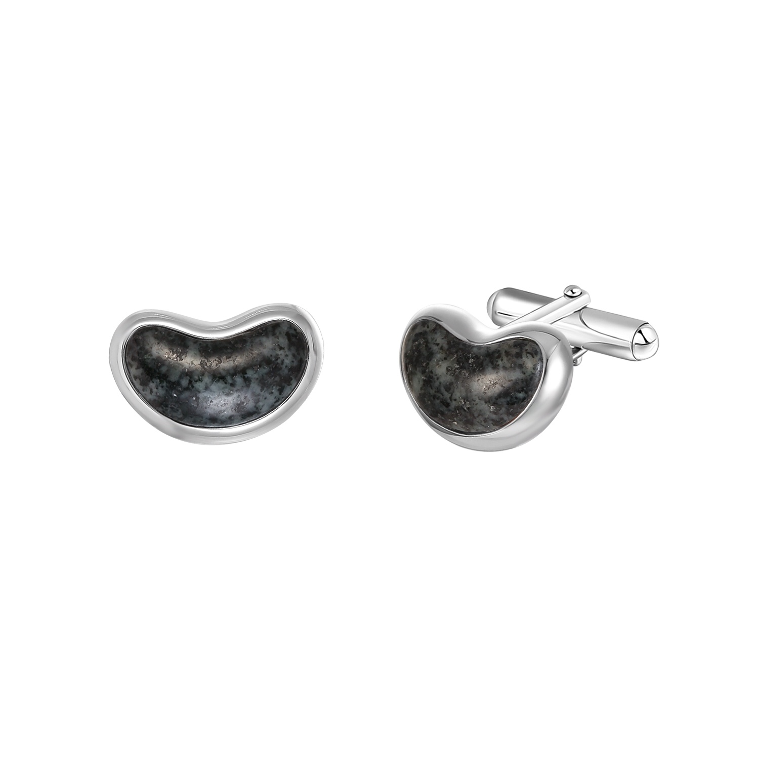 Jersey Granite Bean Cufflinks