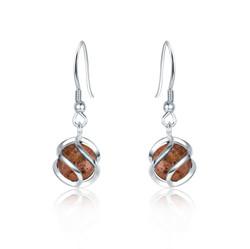 Cage Ball Granite Earrings