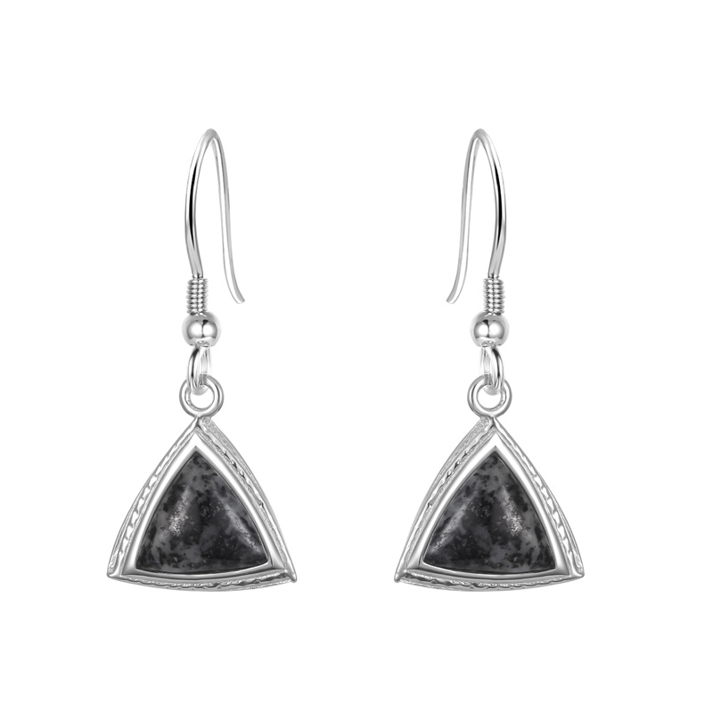 Jersey Granite Trillion Earrings