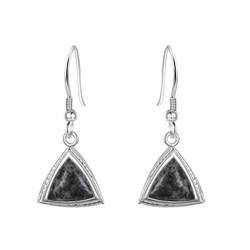 Jersey Granite Trillion Earrings