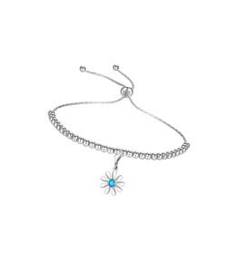 Opal Daisy Charm