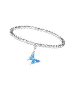 Opal Butterfly Charm