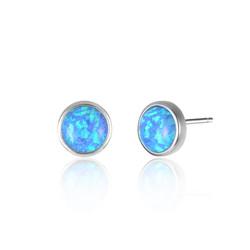 Round Opal Studs