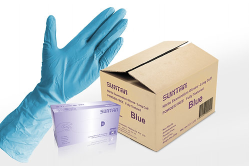 1000PCS Blue Longcuff Nitrile Examination Glove