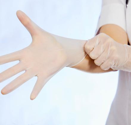 Clear Vinyl Examination Glove