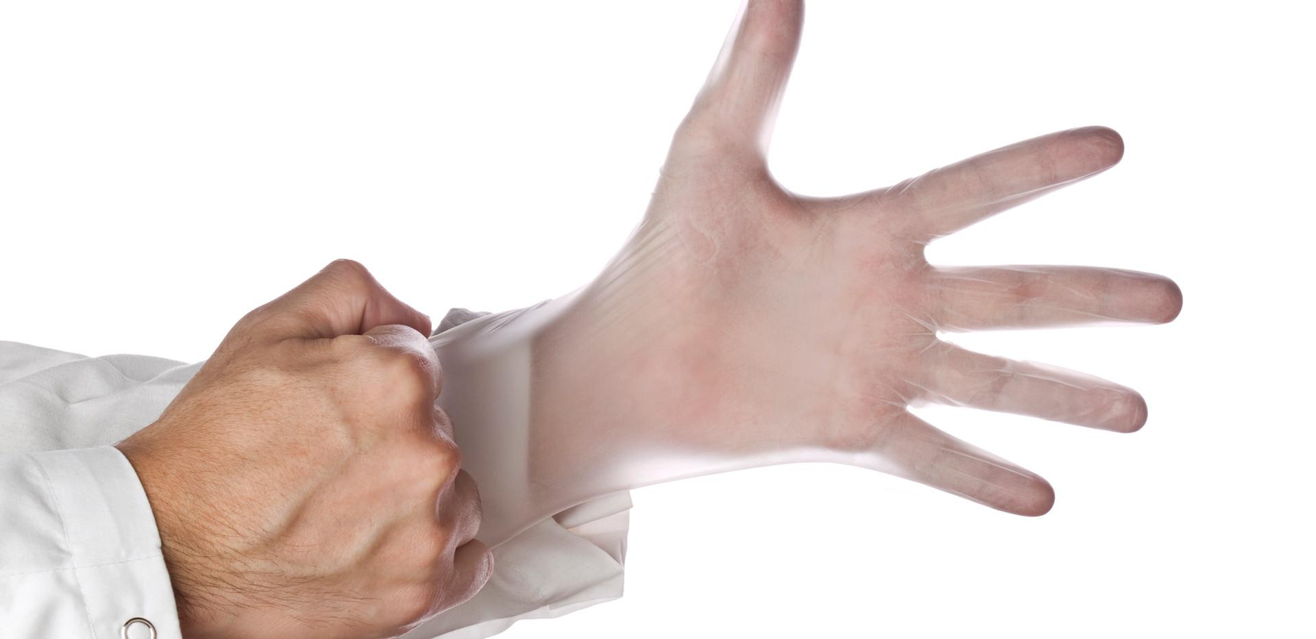 Clear Disposable Vinyl Glove