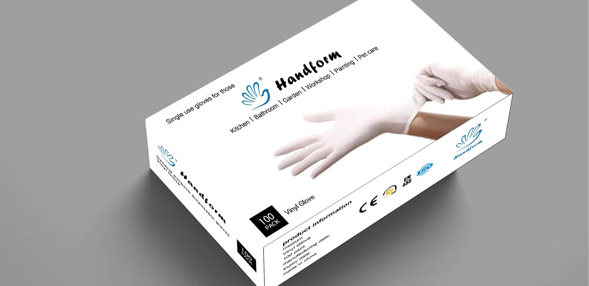 Handform Disposable Vinyl Gloves